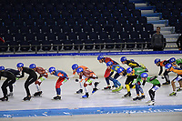 SCHAATSEN: HEERENVEEN, IJsstadion Thialf, 03-10-2020, MassStart, ©foto Martin de Jong