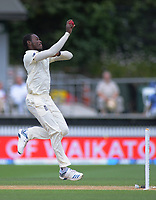 England's Jofra Archer bowls during day five of the international cricket 2nd test match between NZ Black Caps and England at Seddon Park in Hamilton, New Zealand on Tuesday, 3 December 2019. Photo: Dave Lintott / lintottphoto.co.nz