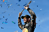2017 Monster Energy NASCAR Cup Series - Kobalt 400<br /> Las Vegas Motor Speedway - Las Vegas, NV USA<br /> Sunday 12 March 2017<br /> Martin Truex Jr, Bass Pro Shops/TRACKER BOATS Toyota Camry celebrates his win in Victory Lane<br /> World Copyright: Nigel Kinrade/LAT Images<br /> ref: Digital Image 17LAS1nk07522