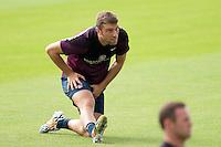 Rickie Lambert of England during training