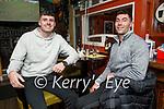 Jason Mullins and David O'Sullivan enjoying the evening in the Brogue Inn on Saturday.