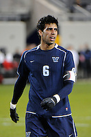 Kevin Garcia (6) of the Villanova Wildcats. St. John's defeated Villanova 2-0 during the second semifinal match of the Big East Men's Soccer Championships at Red Bull Arena in Harrison, NJ, on November 11, 2011.