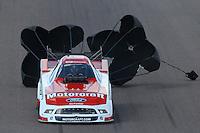 Feb. 24, 2013; Chandler, AZ, USA; NHRA funny car driver Bob Tasca III during the Arizona Nationals at Firebird International Raceway. Mandatory Credit: Mark J. Rebilas-