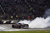 NASCAR XFINITY Series<br /> O'Reilly Auto Parts 300<br /> Texas Motor Speedway<br /> Fort Worth, TX USA<br /> Saturday 4 November 2017<br /> Erik Jones, GameStop Call of Duty WWII Toyota Camry, does a burnout after winning.<br /> World Copyright: John K Harrelson<br /> LAT Images