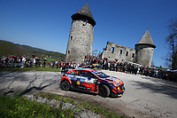 24th April 2021; Zagreb, Croatia; WRC Rally of Croatia, stages 9-16; Thierry Neuville - Hyundai I20 WRC