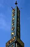 Beacon Laundry sign in Santa Monica, CA