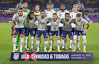 ORLANDO CITY, FL - JANUARY 31: USMNT starting eleven during a game between Trinidad and Tobago and USMNT at Exploria stadium on January 31, 2021 in Orlando City, Florida.