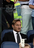 Calcio, Serie A: Roma, stadio Olimpico, 26 agosto, 2017.<br /> AS Roma's former captain Francesco Totti waits for the start of the Italian Serie A football match between Roma and Inter at Rome's Olympic stadium, AUGUST 26, 2017.<br /> UPDATE IMAGES PRESS/Isabella Bonotto
