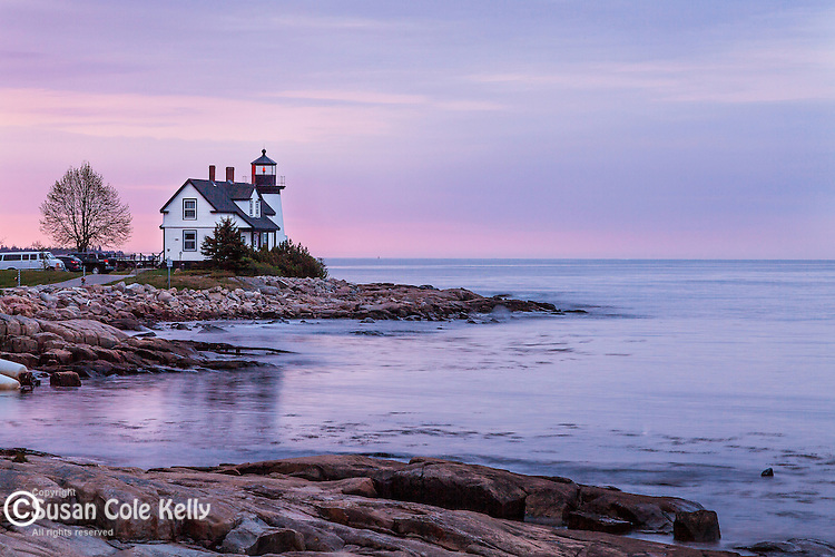 Dawn at Prospect Harbor Light in Prospect Harbor, Maine, USA