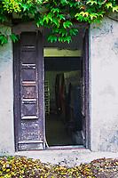 The entrance to the wine cellar. Domaine la Tourade, André Andre Richard, Gigondas, Vacqueyras, Vaucluse, Provence, France, Europe