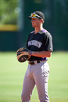 Colorado Rockies Ryan McMahon (25) during an Instructional League game against SK Wyvern of Korea on October 5, 2016 at Salt River Fields at Talking Stick in Scottsdale, Arizona.  (Mike Janes/Four Seam Images)