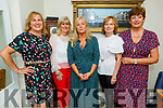 Liz Keane (Kielduff) and Caroline Burke (Blennerville) with double celebrations as they celebrate their birthday in Bella Bia on Saturday. L to r: Mary Dean, Anette Boyle, Liz Keane, Caroline Burke and Ann Donnelly.