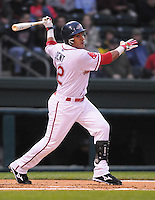 April 13, 2009: Infielder Ryan Dent (22) of the Greenville Drive on the team's 2009 home opener against the Hickory Crawdads at Fluor Field at the West End in Greenville, S.C. Photo by: Tom Priddy/Four Seam Images