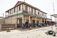 Senegal, Saint Louis.  Old Railroad Station, no longer in use.