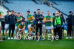Kerry players after the Joe McDonagh Cup Final match between Kerry and Antrim at Croke Park in Dublin. Photo by Daire Brennan/Sportsfil