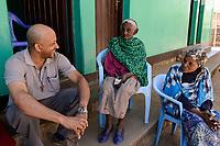 ETHIOPIA , Harar / AETHIOPIEN, Harar, katholische Kirche, Altenheim, WMS Gast Kapuziner Fr. Worku Demeke
