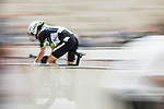 Team Qhubeka NextHash in action during Stage 1 of La Vuelta d'Espana 2021, a 7.1km individual time trial around Burgos, Spain. 14th August 2021. <br /> Picture: Unipublic/Charly Lopez | Cyclefile<br /> <br /> All photos usage must carry mandatory copyright credit (© Cyclefile | Unipublic/Charly Lopez)