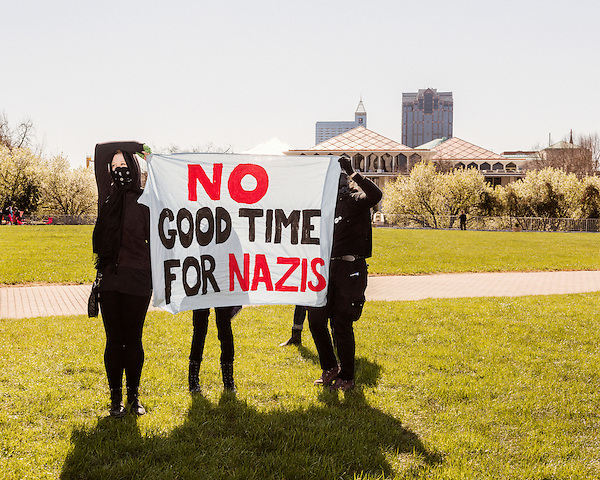 March 4, 2017. Raleigh, North Carolina.<br /> <br /> Hundreds of people gathered on Halifax Mall to show their support for the the 45th president of the United States, Donald Trump. They said they are defending the president from what they see as relentless scorn.
