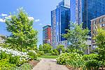 Summertime on the Rose Kennedy Greenway, Boston, Massachusetts, USA