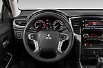 Car pictures of steering wheel view of a 2020 Mitsubishi L200 Intense 4 Door Pick-up Steering Wheel