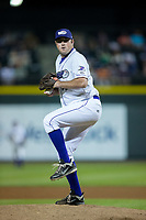 Winston-Salem Dash relief pitcher Drew Hasler (36) in action against the Buies Creek Astros at BB&T Ballpark on April 13, 2017 in Winston-Salem, North Carolina.  The Dash defeated the Astros 7-1.  (Brian Westerholt/Four Seam Images)