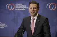 Alexandre l'heureux<br /> , President and CEO,  WSP<br /> <br /> PHOTO  :  Agence Quebec Presse