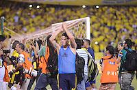 BARRANQUIILLA -COLOMBIA-11-10-2013. Aspecto del partido entre Colombia y Chile válido para la clasificación a la Copa Mundo FIFA 2014 Brasil jugado en el estadio Metropolitano Roberto Melendez en Barranquilla./  Aspect of the match between Colombia and Chile valid for the qualifier to 2014 FIFA World Cup Brazil played at Metropolitan stadium Roberto Melendez in Barranquilla. Photo:VizzorImage/Luis Ríos/STR