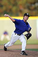 August 9 2009: Eddie McKiernan of the Rancho Cucamonga Quakes during game against the San Jose Giants at The Epicenter in Rancho Cucamonga,CA.  Photo by Larry Goren/Four Seam Images