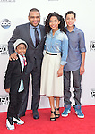 Miles Brown,Anthony Anderson,Yara Shahidi,Marcus Scribner at The 2014 American Music Award held at The Nokia Theatre L.A. Live in Los Angeles, California on November 23,2014                                                                               © 2014 Hollywood Press Agency