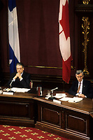 Quebec (QC) CANADA - March 1991 file photo - ,Commission Belanger-Campeau