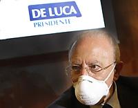 Conferenza Stampa di Vincenzo De Luca confermao Governatore della regione Campania