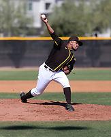 Oliber Guzman - San Diego Padres 2020 spring training (Bill Mitchell)