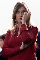 Maria Elena Boschi<br /> Roma 25-11-2014 Arancera di San Sito. Convegno in occasione della giornata contro la violenza sulle donne dal titolo ' Vincere la partita piu' importante, quella contro la violenza sulle donne.<br /> Meeting against violence on women<br /> Photo Samantha Zucchi Insidefoto