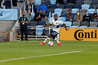SAINT PAUL, MN - MAY 12: Deiber Caicedo #7 of Vancouver Whitecaps FC with the ball during a game between Vancouver Whitecaps and Minnesota United FC at Allianz Field on May 12, 2021 in Saint Paul, Minnesota.