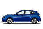 Driver side profile view of a 2009 Subaru Impreza Wagon WRX.