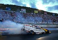 Jul. 19, 2013; Morrison, CO, USA: NHRA funny car driver Tim Wilkerson during qualifying for the Mile High Nationals at Bandimere Speedway. Mandatory Credit: Mark J. Rebilas-