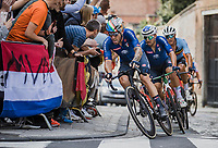 Giacomo Nizzolo (ITA/Qhubeka Nexthash) and Sonny Colbrelli (ITA/Bahrain-Victorius)<br /> <br /> Men Elite – Road Race (WC)<br /> Race from Antwerp to Leuven (268.3km)<br /> <br /> ©kramon