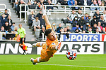 Newcastle goalkeeper Freddie Woodman. Newcastle v West Ham, August 15th 2021. The first game of the season, and the first time fans were allowed into St James Park since the Coronavirus pandemic. 50,673 people watched West Ham come from behind twice to secure a 2-4 win.