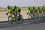 Farnese Vini-Selle Italia team in action during the 2nd Stage of the 2012 Tour of Qatar an 11.3km team time trial at Lusail Circuit, Doha, Qatar. 6th February 2012.<br /> (Photo Eoin Clarke/Newsfile)