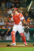 Scottsdale Scorpions Taylor Ward (9), of the Los Angeles Angels of Anaheim organization, during a game against the Salt River Rafters on October 12, 2016 at Scottsdale Stadium in Scottsdale, Arizona.  Salt River defeated Scottsdale 6-4.  (Mike Janes/Four Seam Images)