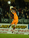 13/01/2007       Copyright Pic: James Stewart.File Name : sct_jspa12_falkirk_v_dunfermline.KAPER SCHMEICHEL FUMBLES A HIGH BALL AS HE MAKES HIS DEBUT FOR FALKIRK.James Stewart Photo Agency 19 Carronlea Drive, Falkirk. FK2 8DN      Vat Reg No. 607 6932 25.Office     : +44 (0)1324 570906     .Mobile   : +44 (0)7721 416997.Fax         : +44 (0)1324 570906.E-mail  :  jim@jspa.co.uk.If you require further information then contact Jim Stewart on any of the numbers above.........