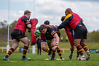 Pre match preparations ahead of the Greene King IPA Championship match between Ampthill RUFC and Jersey Reds at Dillingham Park, Ampthill, England on 1 May 2021. Photo by David Horn.