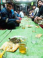 Shia congregation having lunch together during Ashura period
