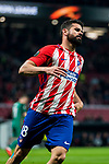Diego Costa of Atletico de Madrid reacts during the UEFA Europa League 2017-18 Round of 16 (1st leg) match between Atletico de Madrid and FC Lokomotiv Moscow at Wanda Metropolitano  on March 08 2018 in Madrid, Spain. Photo by Diego Souto / Power Sport Images