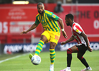 Matt Phillips of West Brom passes the ball upfield during Brentford vs West Bromwich Albion, Sky Bet EFL Championship Football at Griffin Park on 26th June 2020