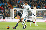 Real Madrid's Raphael Varane (r) and Real Sociedad's Juanmi Jimenez during La Liga match. January 29,2017. (ALTERPHOTOS/Acero)