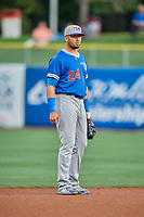 Edwin Rios (24) of the Oklahoma City Dodgers on defense during the game against the Salt Lake Bees at Smith's Ballpark on July 31, 2019 in Salt Lake City, Utah. The Dodgers defeated the Bees 5-3. (Stephen Smith/Four Seam Images)