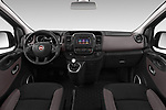 Stock photo of straight dashboard view of 2018 Fiat Talento-Combi Panorama Door Passenger Van Dashboard