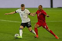 2nd June 2021, Tivoli Stadion, Innsbruck, Austria; International football friendly, Germany versus Denmark;  Matthias Ginter 4 Germany and Martin Braithwaite 9 Denmark