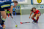 GER - Mannheim, Germany, January 19: During the 1. Bundesliga women Quarterfinal indoor hockey match between Mannheimer HC (red) and Zehlendorfer Wespen (blue) on January 19, 2019 at Irma-Roechling-Halle in Mannheim, Germany. Final score 9-4. (Photo by Dirk Markgraf / www.265-images.com) *** Local caption ***